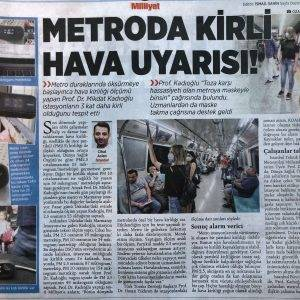 İstanbul Metro'sunda Huma-i Ile Hava Kalitesi ölçümü