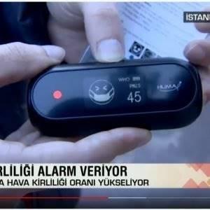 CNN Türk Yayınında Hava Kalitesi ölçümü Gerçekleştirdik