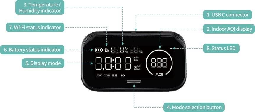 humai smart hi300 hava kalitesi ölçüm cihazı bilgi