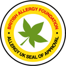 Hava temizleme cihazının alerji Hastalığına iyi geldiğine dair Britanya - İngiltere'den onay logosu