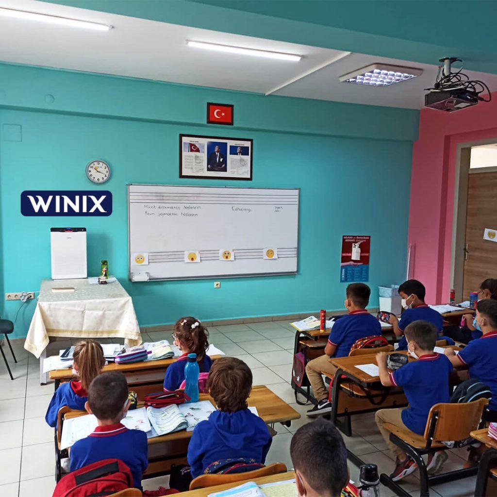 Bir Devlet İlkokulunda kullanılan WINIX Zero hava temizleyici